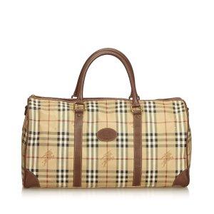 Burberry Plaid Duffle Bag