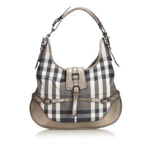 Burberry Plaid Hobo Bag