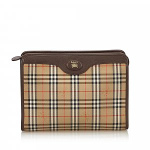 Burberry Plaid Jacquard Clutch