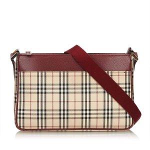 Burberry Plaid Jacquard Crossbody Bag