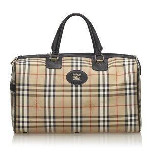 Burberry Plaid Jacquard Duffle Bag