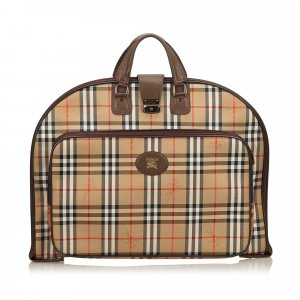 Burberry Plaid Jacquard Garment Bag