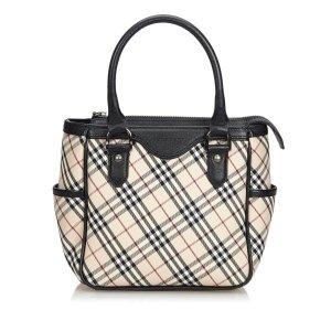 Burberry Plaid Jacquard Handbag