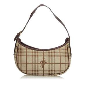 Burberry Plaid Jacquard Hobo Bag