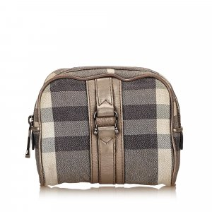 Burberry Plaid Jacquard Pouch