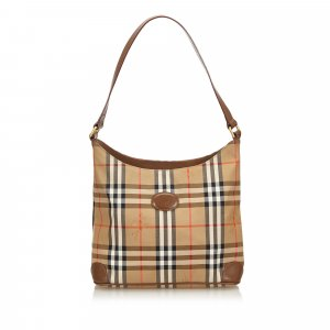 Burberry Plaid Jacquard Shoulder Bag