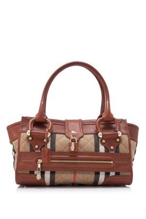 Burberry Plaid Leather Handbag