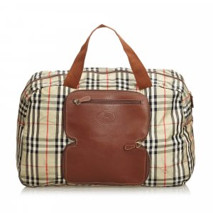 Burberry Travel Bag beige nylon