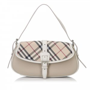 Burberry Plaid Nylon Handbag