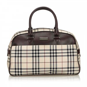 Burberry Plaid Nylon Travel Bag