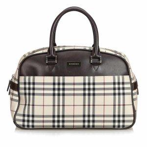 Burberry Plaid Nylon Travel Bag