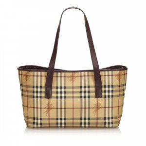 Burberry Plaid Tote Bag