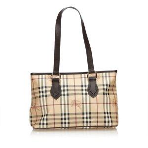 Burberry Plaid Tote Bag