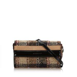 Burberry Plaid Tweed Crossbody Bag