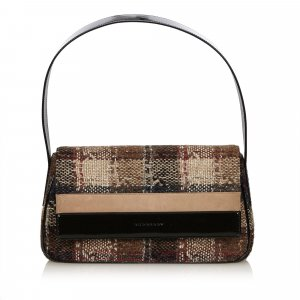Burberry Plaid Wool Baguette