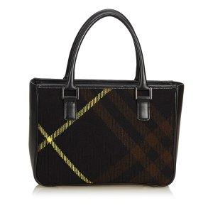 Burberry Plaid Wool Handbag