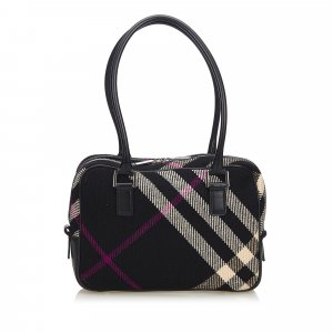 Burberry Shoulder Bag black wool