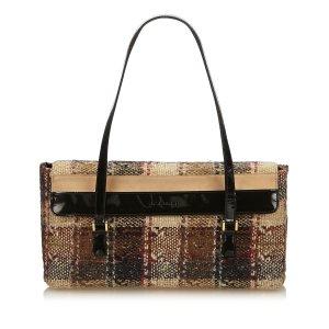 Burberry Shoulder Bag dark brown wool