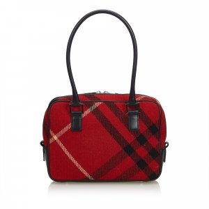 Burberry Shoulder Bag red wool