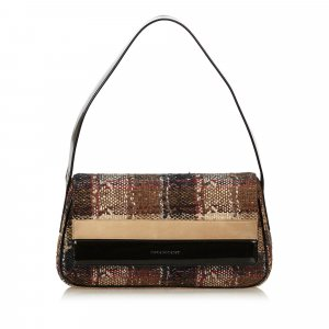 Burberry Plaid Wool Shoulder Bag