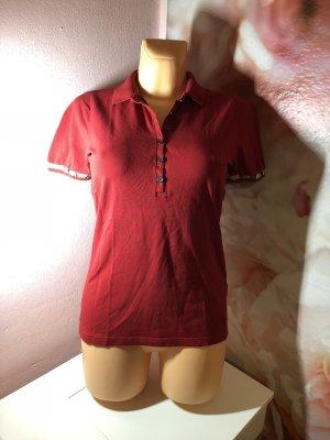 Burberry Camiseta tipo polo rojo oscuro