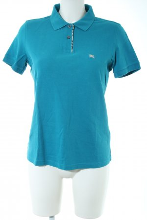 Burberry Polo Shirt blue casual look