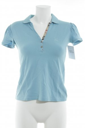 Burberry Polo shirt lichtblauw casual uitstraling