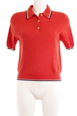 Burberry Polo shirt rood klassieke stijl