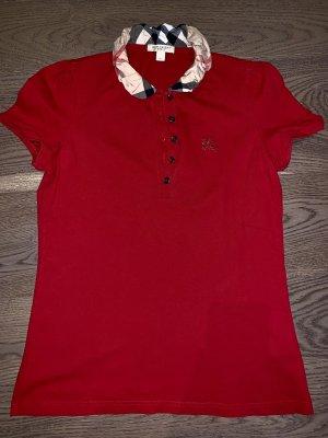 Burberry Brit Polo Shirt dark red