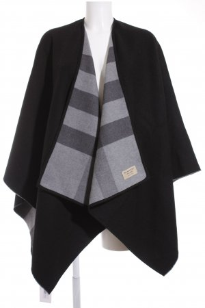 "Burberry Poncho ""Charlet Poncho Reversible Check Merino Charcoal"""