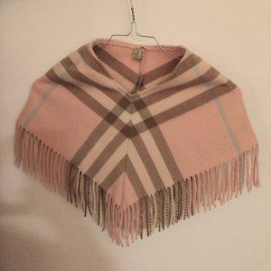Burberry Poncho - rosa/beige