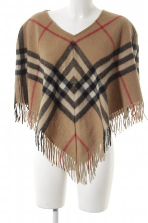 Burberry Poncho Streifenmuster Brit-Look