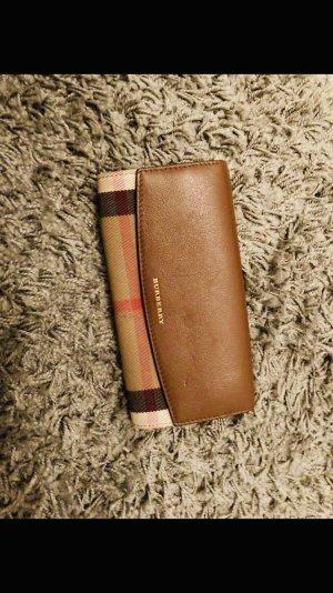 Burberry Portemonnaie aus Jute und Leder