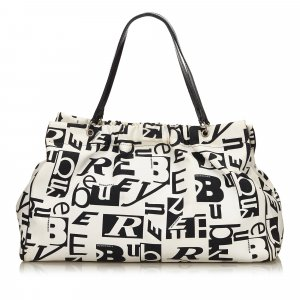 Burberry Printed Canvas Tote Bag