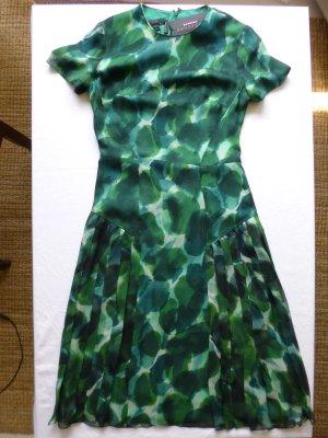 Burberry Prorsum, Seidenkleid, grün, gemustert, neu, € 1.800,-