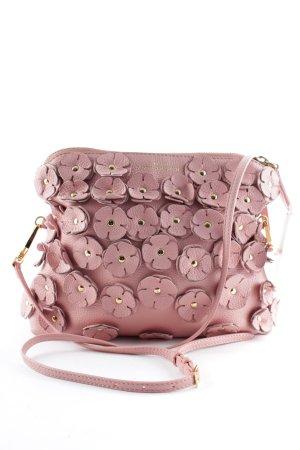 Burberry Prorsum Borsa a spalla rosa-oro motivo floreale Paris-Look