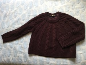Burberry Pullover Wolle und Kaschmir Weinrot