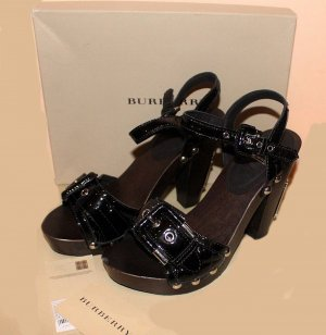 BURBERRY PUMPS Plateau schwarz LACKLEDER Gr. 39