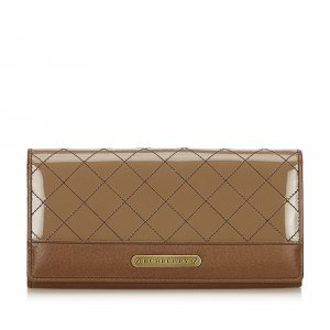 Burberry Quilted Leather Long Wallet