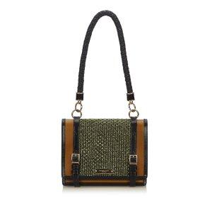 Burberry Raffia Christie Shoulder Bag