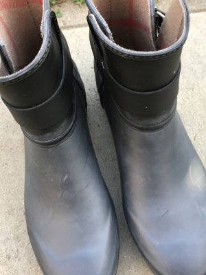 Burberry Boots black-silver-colored
