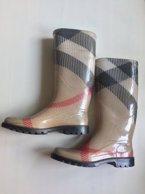 Burberry Botas de agua beige-carmín