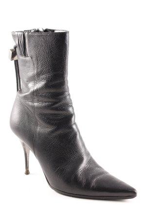 Burberry Reißverschluss-Stiefeletten schwarz Business-Look