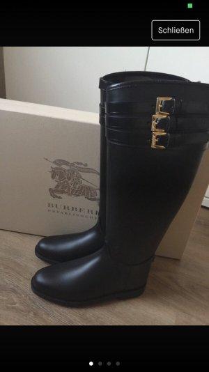 Burberry Wellington laarzen zwart-goud