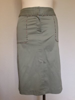 Burberry Midi Skirt sage green