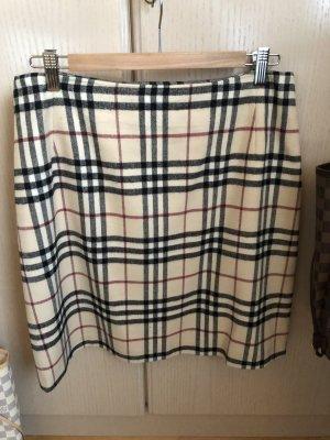 Burberry London Falda de lana multicolor Lana