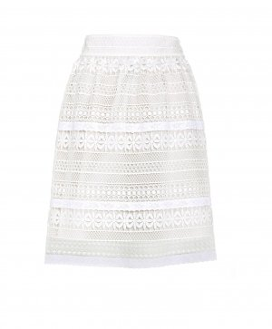 Burberry Lace Skirt white-natural white polyester