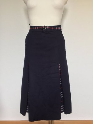Burberrys of London Wool Skirt dark blue