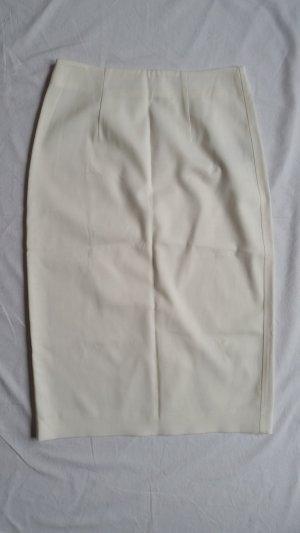 Burberry Midi Skirt natural white viscose