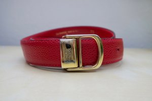 Burberry Leather Belt brick red-gold orange leather